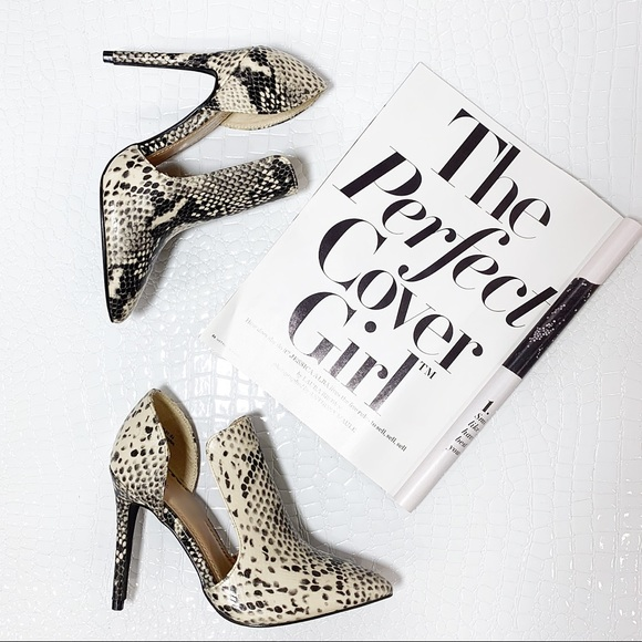 Shoes - ✨RESTOCKED✨Snakeskin Print cut out heel